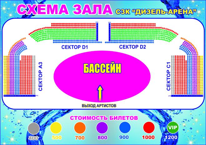 дизиль арена схема зала