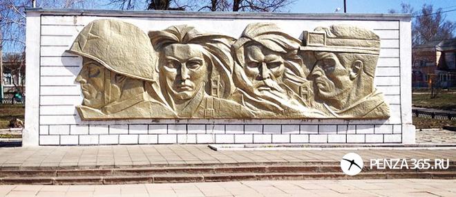 Поселок городского типа Шемышейка памятник воинам-землякам на площади Славы