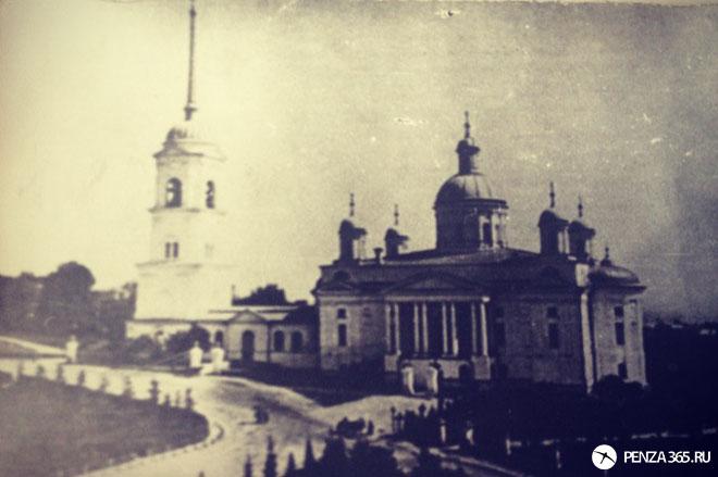 старая фотография Город Пенза. Спасский кафедральный собор
