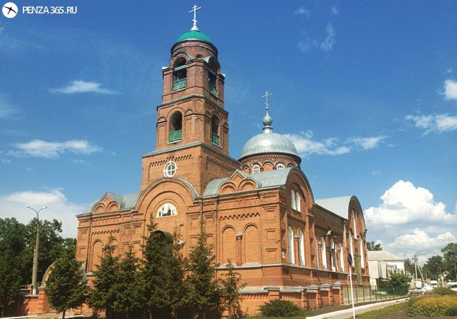 фото Поселок Мокшан. Церковь Богоявленская.