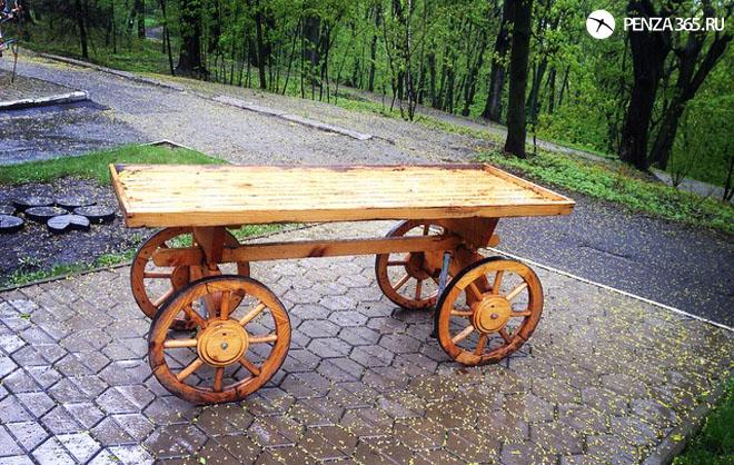 Город Пенза. Арт — объект «Телега» белинский парк