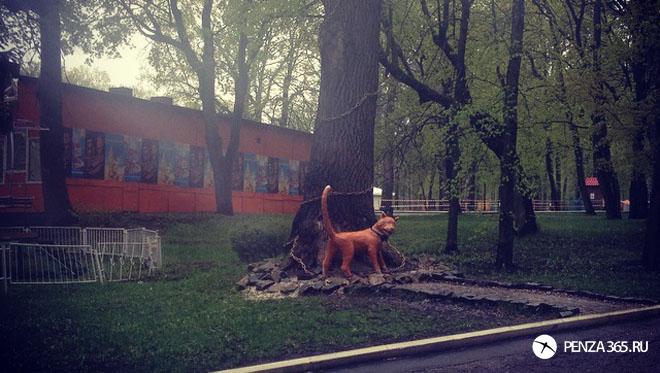 Город Пенза. Арт — объект «Кот ученый» в белинском парке