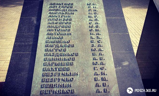 пенза афганские ворота список фото