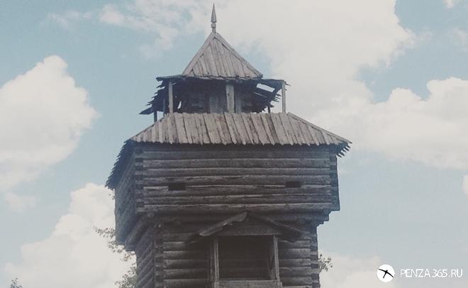 фото. Поселок Мокшан. Сторожевая башня.