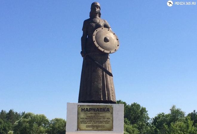 Памятник мокшанской княгине Нарчатке. фото